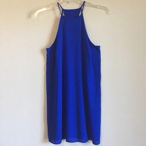 NWT Cutout Slip Dress Strappy Backless Halter